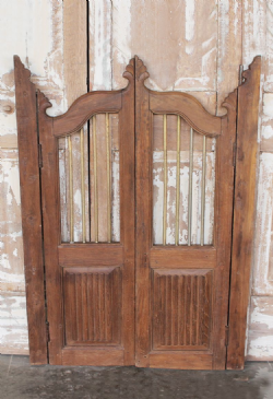 Antique Garden Gates in Teak Wood with Iron, Gujarat